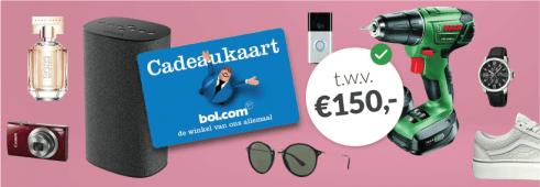 Essent energie actie: Essent: € 150,- Bol.com cadeaubon actie