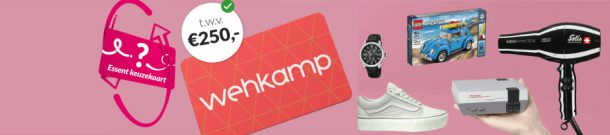 Essent energie actie: Essent: € 250,- Wehkamp cadeaubon actie