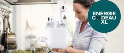 Nuon energie actie: Vattenfall actie: gratis Apple Airpods 2 t.w.v. € 229,-