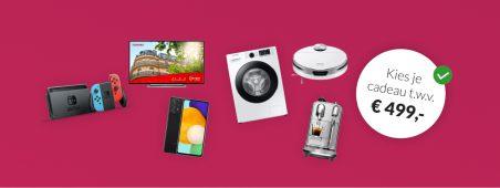 Essent energie actie: Essent aanbieding: kies je cadeau tot € 500