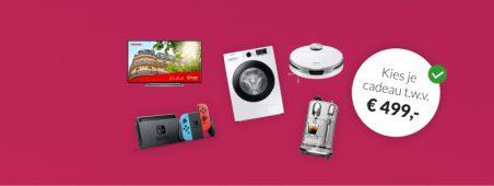 Essent energie actie: Essent aanbieding: kies je cadeau tot € 500,-